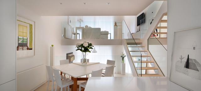 Terraced house refit scandinavian dining room london for Terraced house dining room ideas