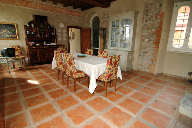 Terracotta Floors Mediterranean Dining Room San