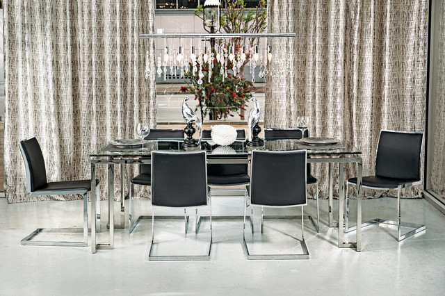 Tessa Dining Table Mono Chrome Modern Room
