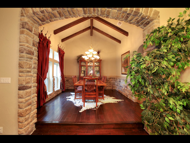 Texas Custom traditional dining room