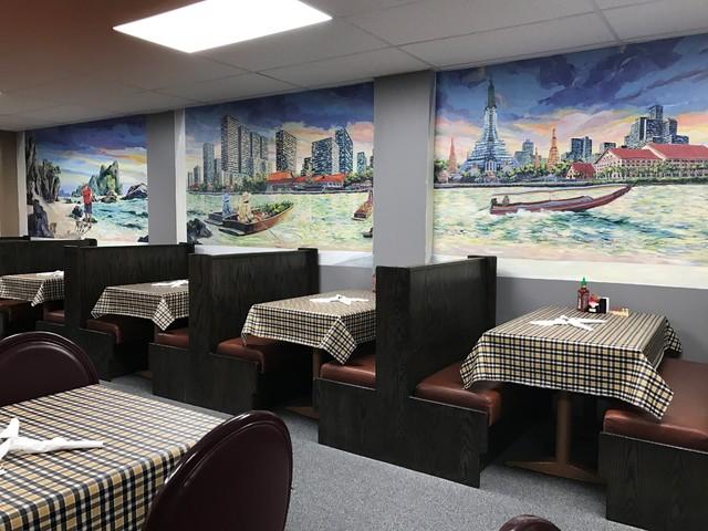 Thai express restaurant detail asian dining room
