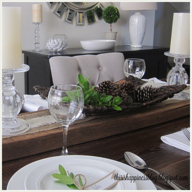 Thanksgiving tablescape for Dining room tablescapes ideas
