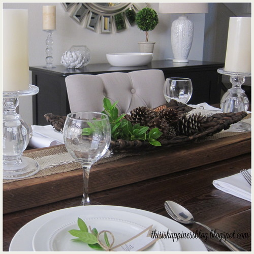 Anytime Gourmet Simple Thanksgiving Table Decor