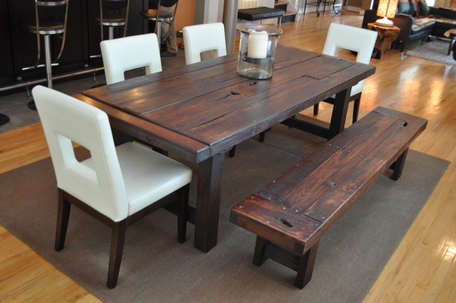 The Clayton Dining Table Eclectic Dining Room Atlanta By Rustic Trades Furniture