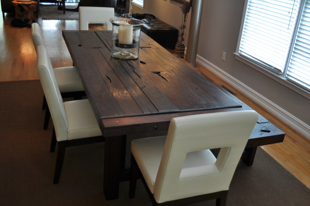 the clayton dining table eclectic dining room - Dining Room Tables Atlanta