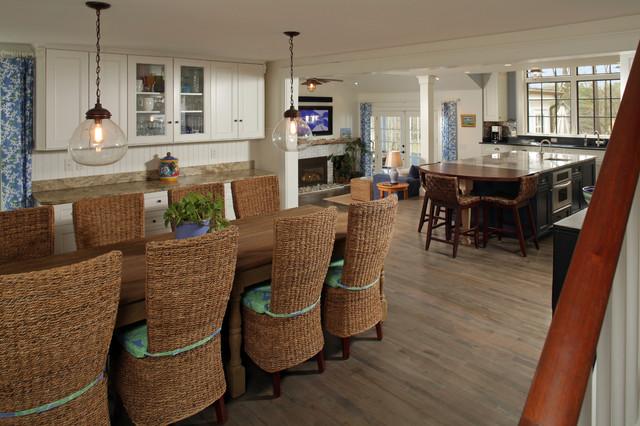 Dining room - beach style dining room idea in Boston