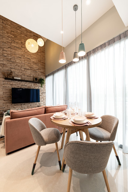 The Creek contemporary-dining-room