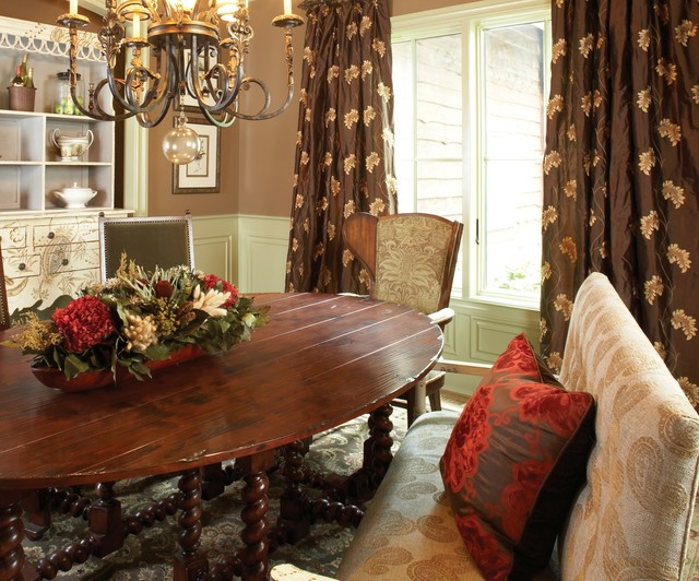 The Curtain Exchange of Atlanta rustic-dining-room