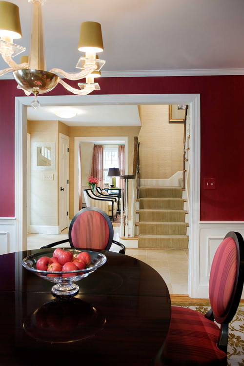 Color of the month decorating with burgundy abode for Red dining room designs