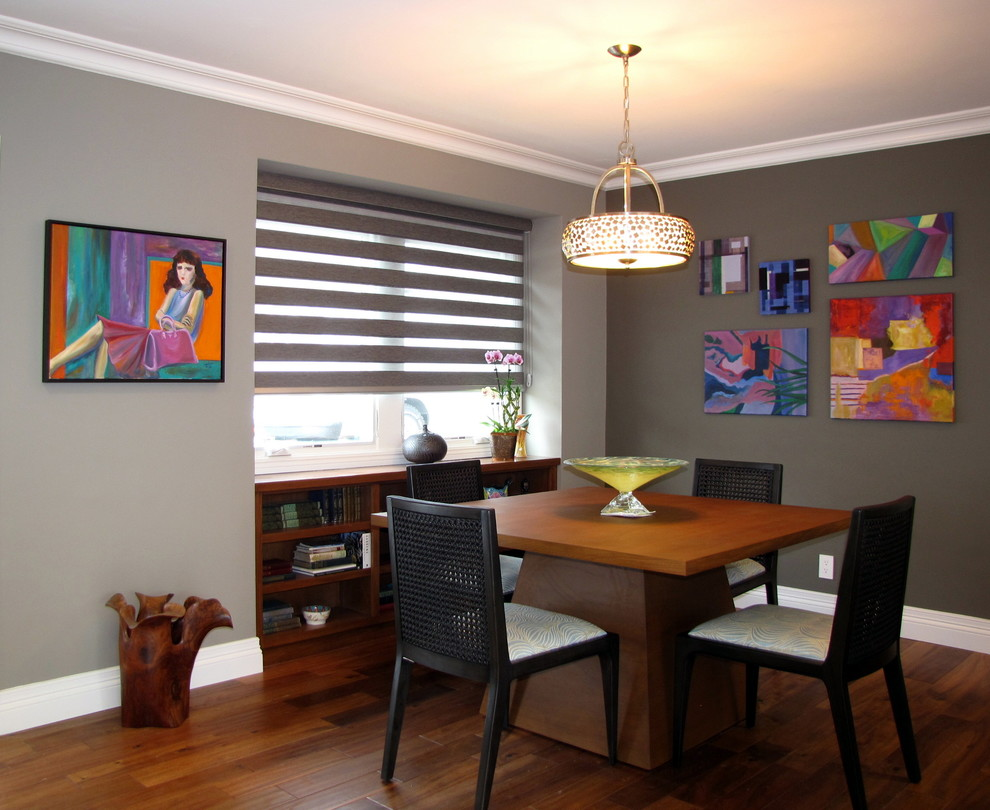 Example of an eclectic dining room design in Los Angeles