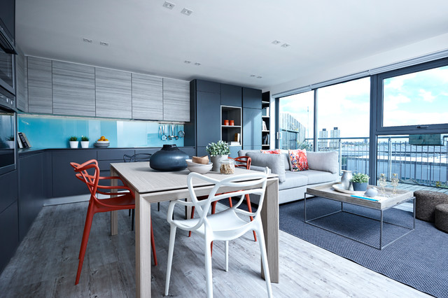 The East London Penthouse Apartment Contemporary Dining Room