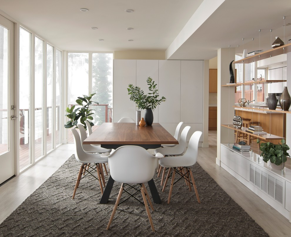 The Glass House Modern Living Dining Room Design Contemporary Dining Room Seattle By Interiors By Popov