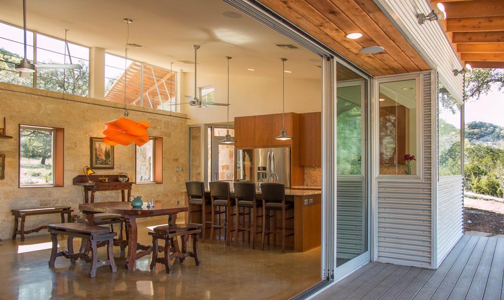 Dining room - contemporary dining room idea in Austin