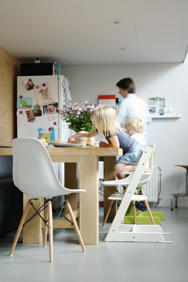 Dining room - contemporary dining room idea in Amsterdam
