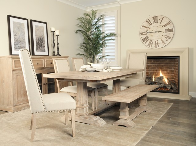 The Hudson Dining Collection Rustic Dining Room Miami By El