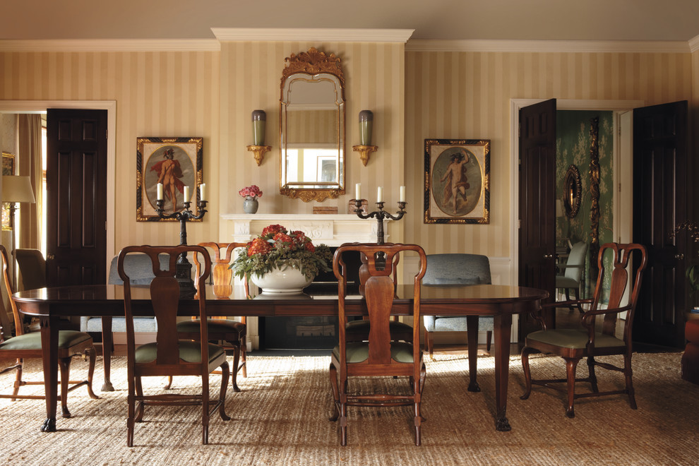 Inspiration for a timeless dining room remodel in Milwaukee