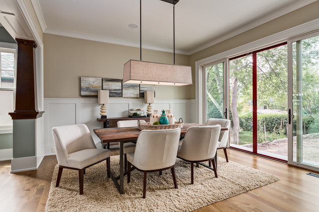 the morris craftsman dining room calgary by manor house