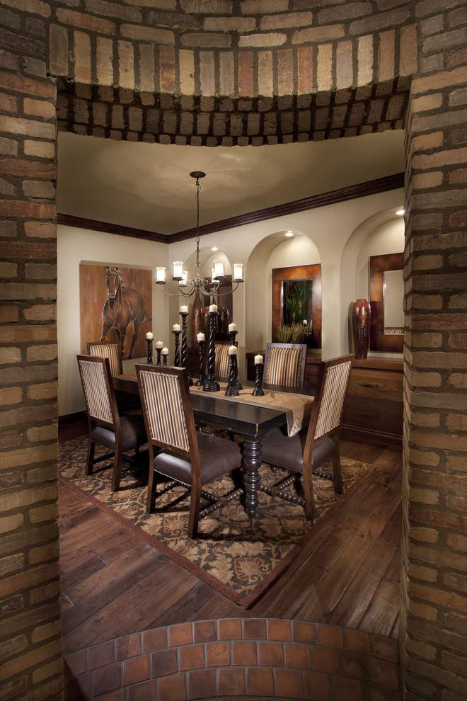 Dining room - mediterranean dining room idea in Denver