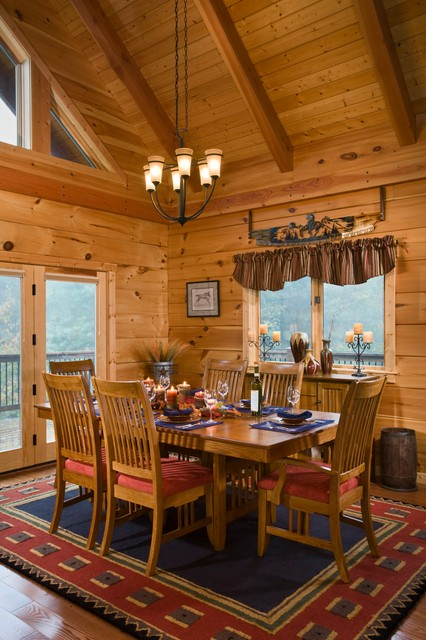 The Park Vista Rustic Dining Room Charlotte By Log