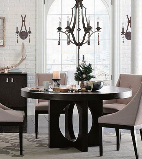 Transitional Dining Room Chandeliers: The Parson Collection