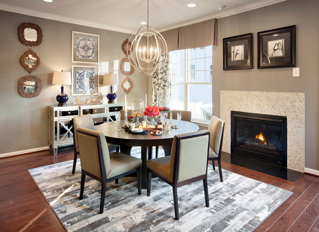 The Pointe at Arundel Preserve - Chandelier Model contemporary-dining-room