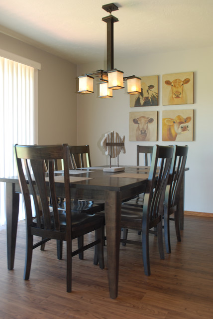 the rushes beach style dining room milwaukee by designworks