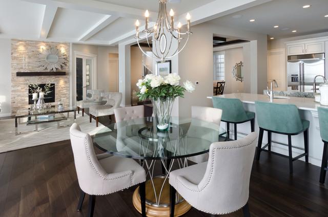 The Savannah Showhome  Calgary  Alberta  contemporary dining room. The Savannah Showhome  Calgary  Alberta