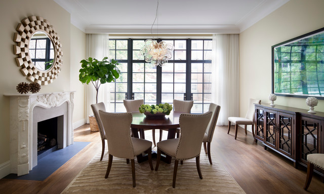 The Tall Townhouse contemporary-dining-room