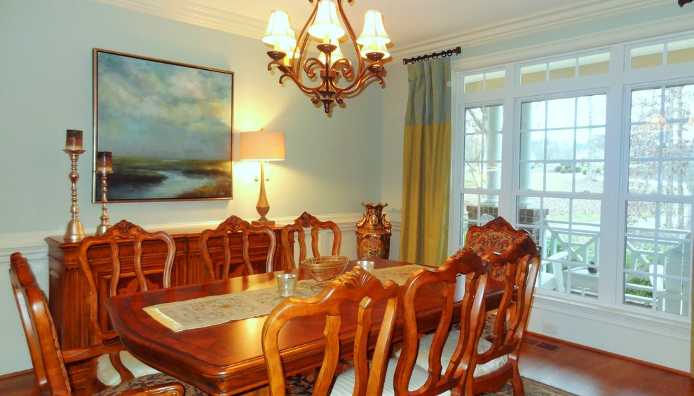 Inspiration for a large transitional kitchen/dining room combo remodel in Other
