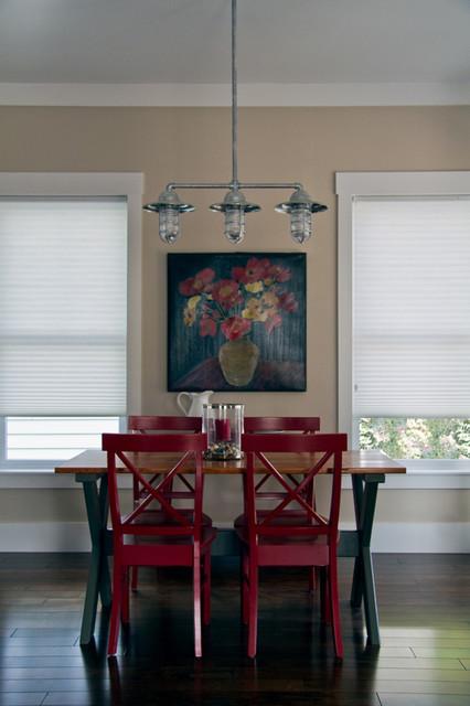 Industrial dining room lighting