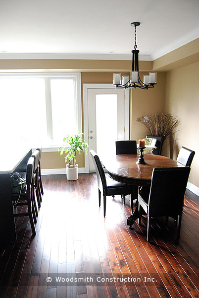 Two Storey New home contemporary-dining-room