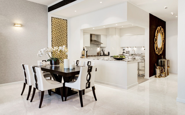 Tiara Residences Palm Jumeirah Dubai Contemporary Dining Room