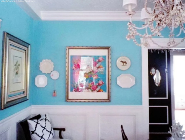 Tiffany Blue Dining Room Clean White