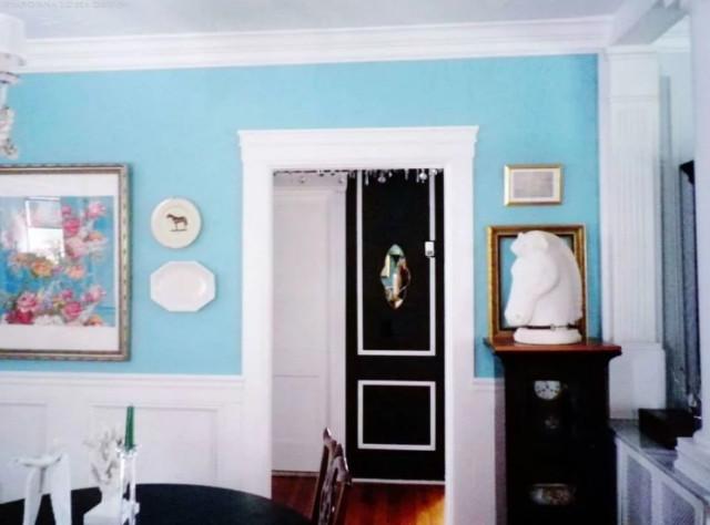Tiffany Blue Dining Room White