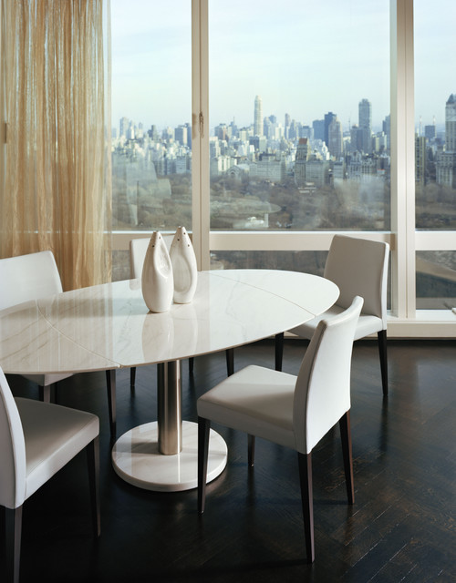 Time Warner Penthouse contemporary-dining-room