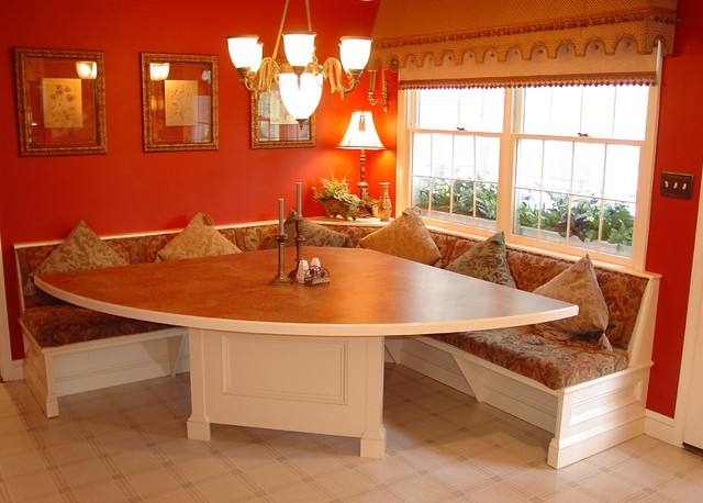 Timonium built in corner dinette traditional dining - Kitchen table booth seating ...