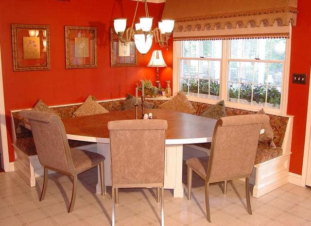 Timonium Built In Corner Dinette Traditional Dining Room