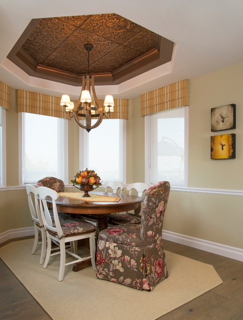 Dining Rooms With Tin Ceilings Rustic Dining Room