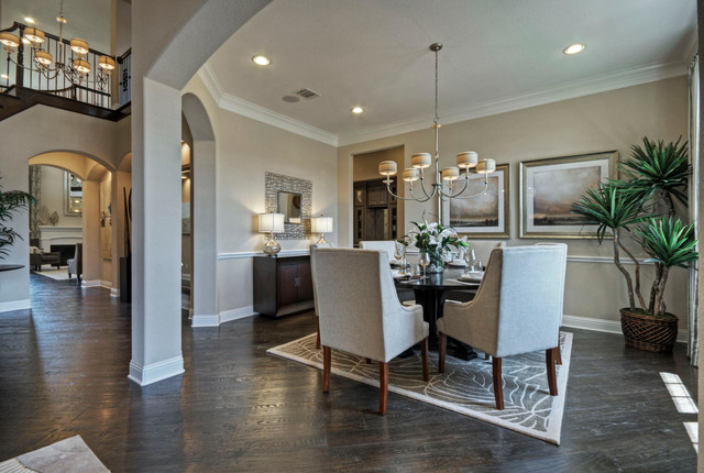 Toll Brothers Plano, TX Model Contemporary Dining Room