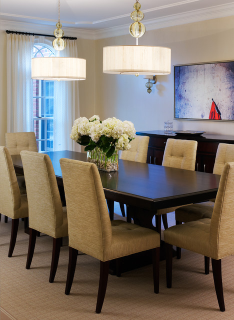 Tone On Tone Dining Room Transitional Dining Room