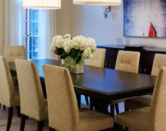 Tone on Tone Dining Room transitional-dining-room