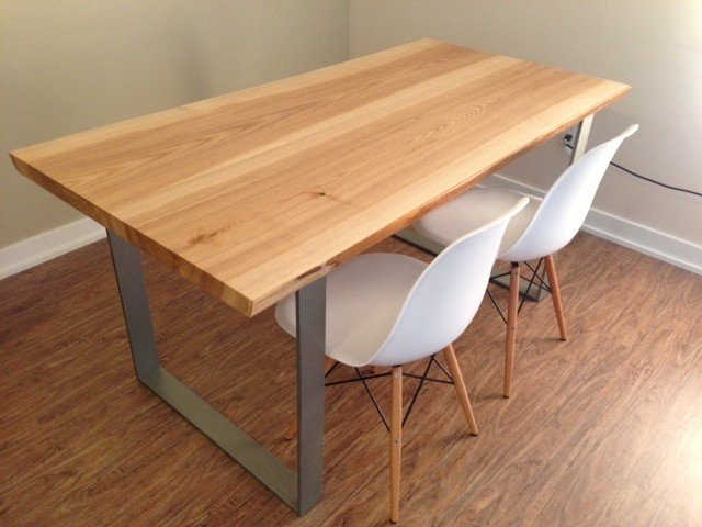 Toronto live edge wood dining room tables contemporary for Modern wood dining room table
