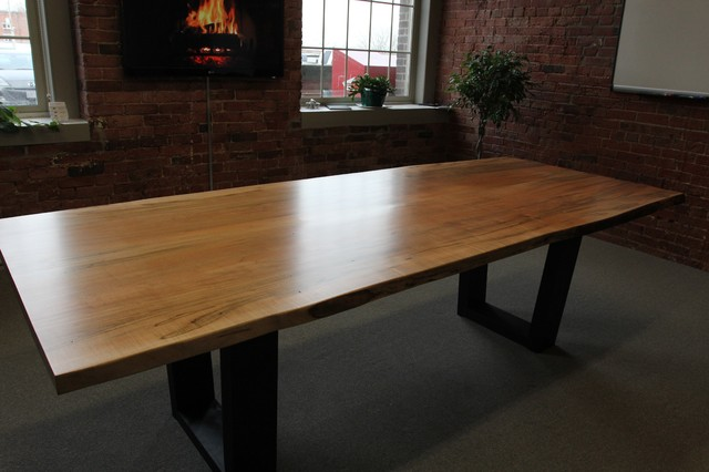 Toronto live edge wood dining room tables contemporary for Wood modern dining table