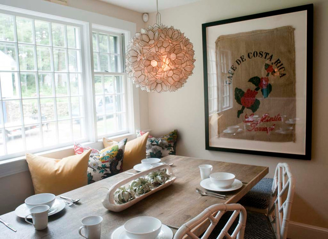 This is an example of a dining room in Boston.