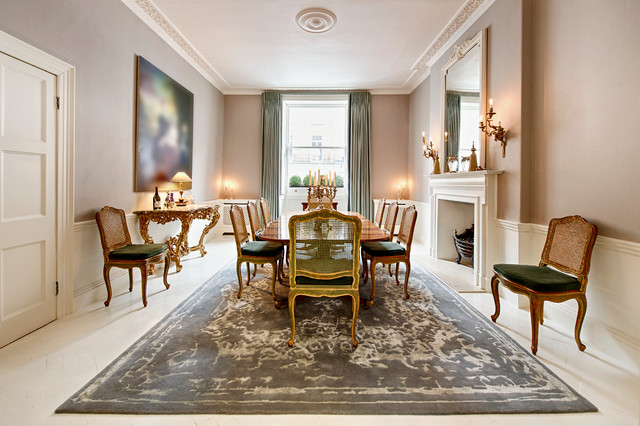 Townhouse central london traditional dining room for Dining room ideas for townhouse