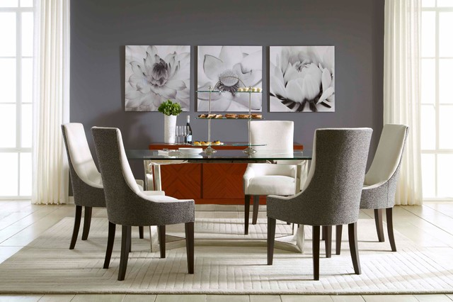 Townsend Dining Table Ada Chairs Modern Dining Room