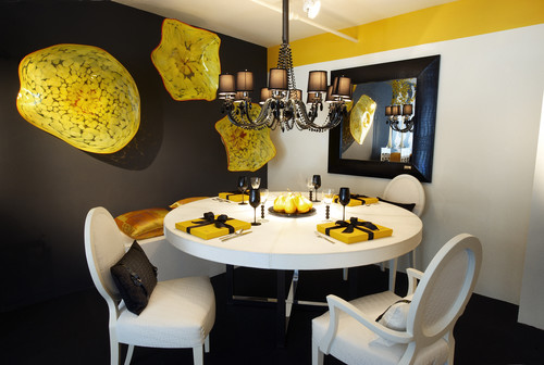 contemporary dining room Color of the Month: Decorating with Yellow