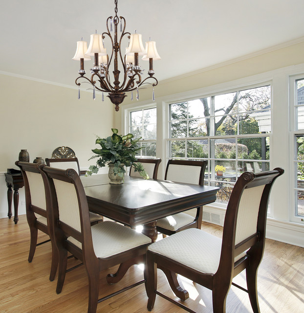 Dining Room Chandeliers Traditional: Traditional 6 Light Chandelier In Burnt Bronze