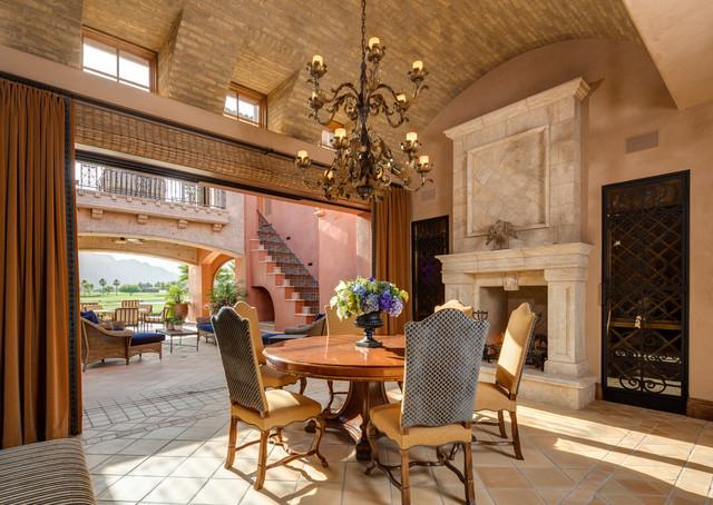 a spanish architecturefloridianmizner mediterranean dining room