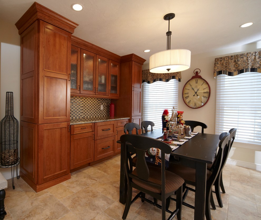 Traditional Cherry Dry Bar Cabinetry Traditional Dining Room Boston By Michael James Design Inc
